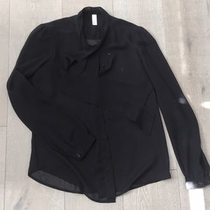 American Apparel chiffon blouse NWOT